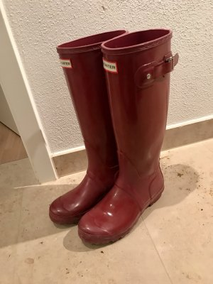 Hunter Boots glossie rot