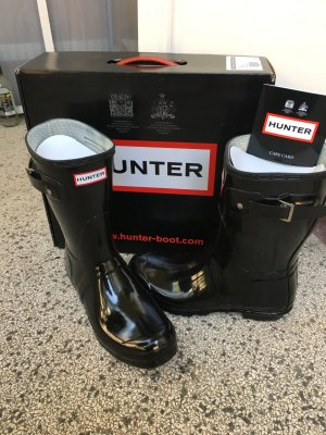 Hunter Boots, glossy black