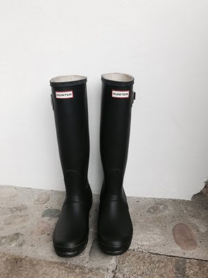 Hunter Boots Gummistiefel hoch dunkelblau/schwarz