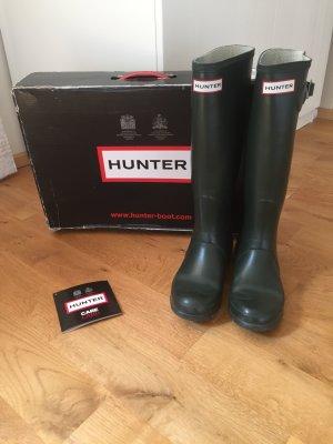 Hunter Boots Gummistiefel oliv