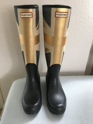 Hunter Boots Limited Edition Union Jack gold