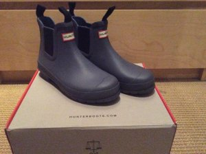 Hunter Chelsea Boots blau 39 / 38,5 Wellies Gummistiefel