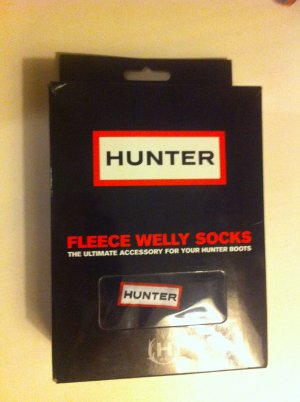 Hunter fleece welly socks schwarz