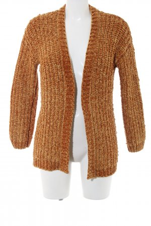 Hunter Coarse Knitted Jacket light orange cable stitch casual look