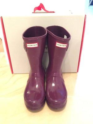 Hunter Wellington laarzen bruin-paars-lila
