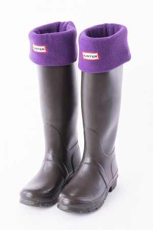 Hunter Wellies taupe synthetic material