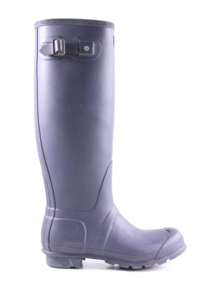 Hunter Wellies blue casual look