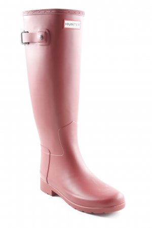 Hunter Wellies dark red casual look