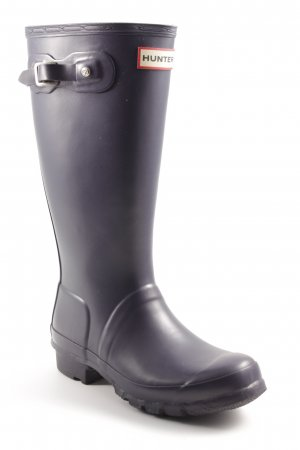 Hunter Gummistiefel dunkelviolett Casual-Look