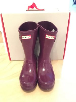 Hunter Wellies brown violet-lilac