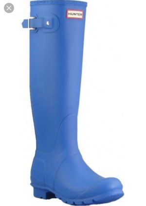 Hunter Wellies neon blue-cornflower blue