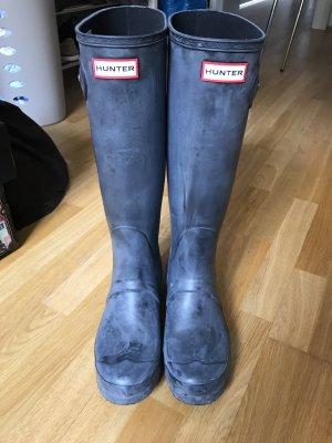 Hunter Gummistiefel kniehoch Gr 40/41 graublau wie neu
