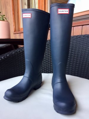 Hunter Wellies dark blue-slate-gray synthetic