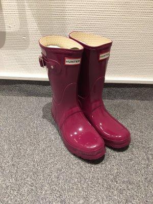 Hunter Wellington laarzen paars-bordeaux