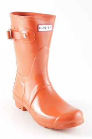 "Hunter Botte en caoutchouc ""Original Gloss Short"" orange foncé"