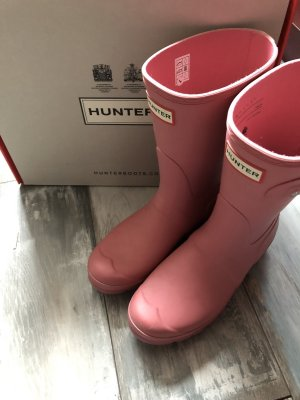 Hunter Botte en caoutchouc rose