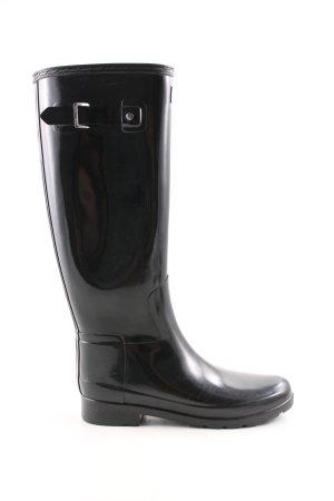 Hunter Botas de agua negro estilo sencillo