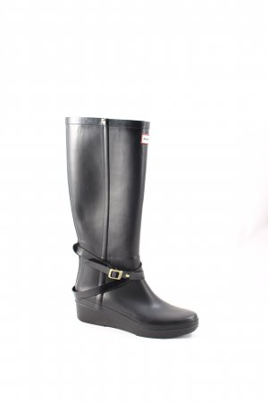 Hunter Gummistiefel schwarz Street-Fashion-Look