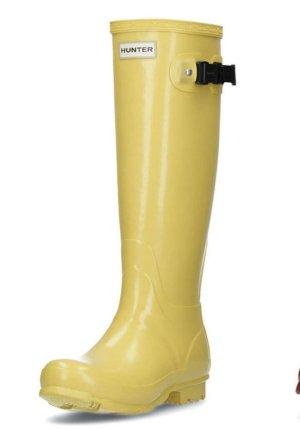 Hunter hohe Gummistiefel gelb Gr. 38 39 NEU NP125€