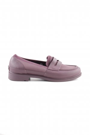Hunter Mocassins lila casual uitstraling
