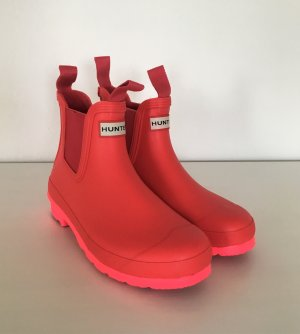 Hunter Neon Chelsea Short Ankle Boots 38 Pink Gummistiefel Wellington Wellies Regen Stiefeletten
