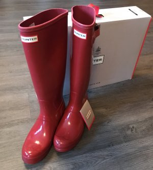 Hunter Original Gummistiefel Rot Gloss, Gr. 40/41