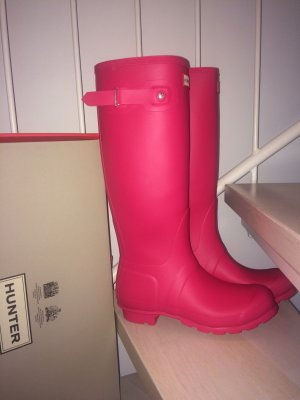 Hunter Wellies magenta-raspberry-red