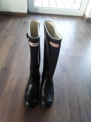 Hunter Wellies black synthetic