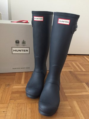 Hunter Stivale di gomma blu scuro