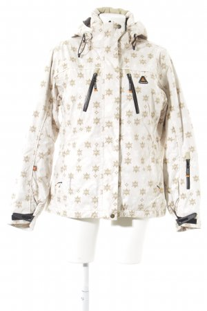Hurricane Outdoor Jacket cream-camel embellished pattern casual look