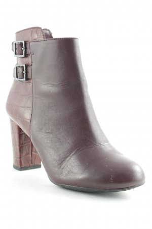 Hush Puppies Booties bordeauxrot Reptil-Optik
