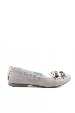 Hush Puppies faltbare Ballerinas hellgrau Business-Look