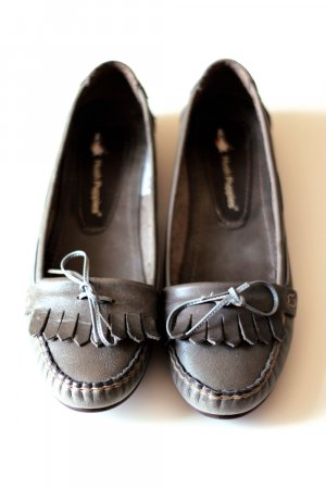 Hush Puppies Mocassins ocre-gris cuir