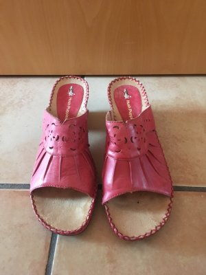 Hush Puppies Heel Pantolettes bright red leather