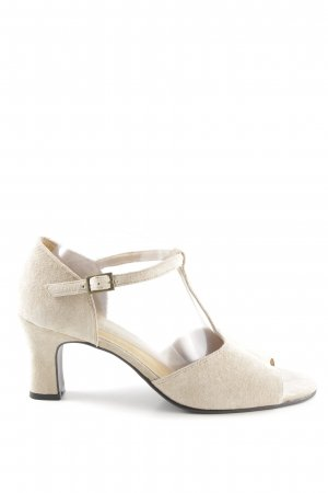 Hush Puppies T-Strap Pumps cream business style