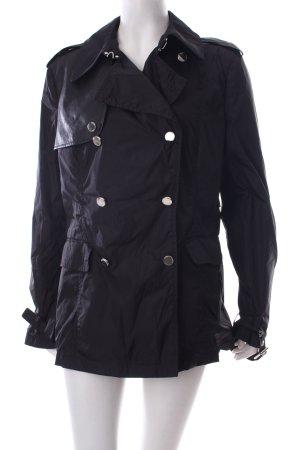 Husky Regenjacke schwarz Lederelemente