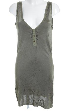 Hust T-shirt jurk groen-grijs wetlook