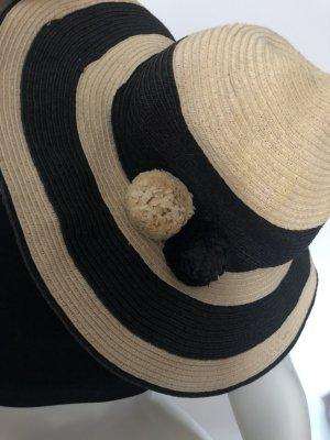 H&M Chapeau de soleil noir-beige