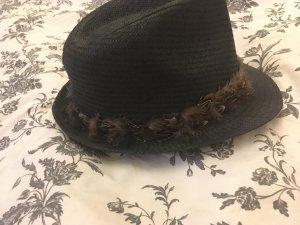 Sombrero de paja negro-marrón