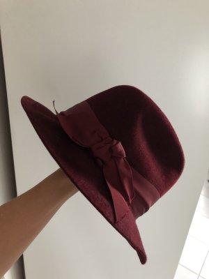 Patrizia Fabri Sombrero de lana burdeos
