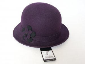 Bexleys Woolen Hat dark violet-black new wool