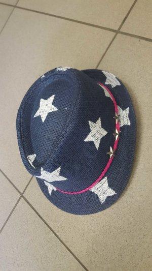 Hut Blau mit Sternen