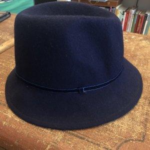 Wollen hoed donkerblauw-blauw