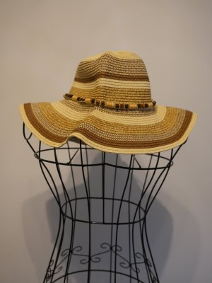 Straw Hat multicolored synthetic material