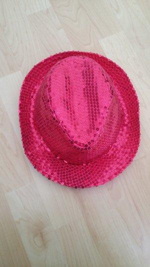 Hut Fasching pink mit Pailletten