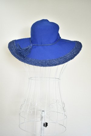 Loevenich Chapeau à larges bords bleu polyester