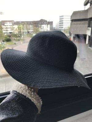 Hut größe m 56 schwarz aus papierstroh