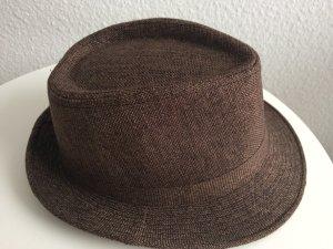 Cappello di lana nero-marrone Tessuto misto