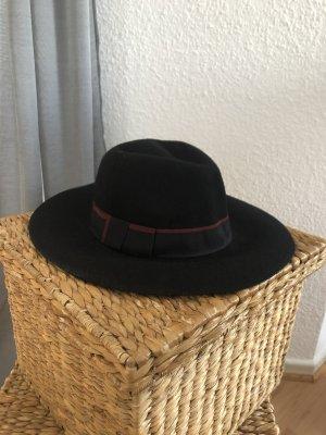 Mango Cappello in feltro nero-bordeaux
