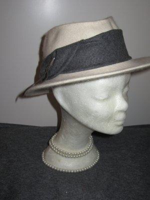 Vintage Cappello tradizionale crema-bianco sporco